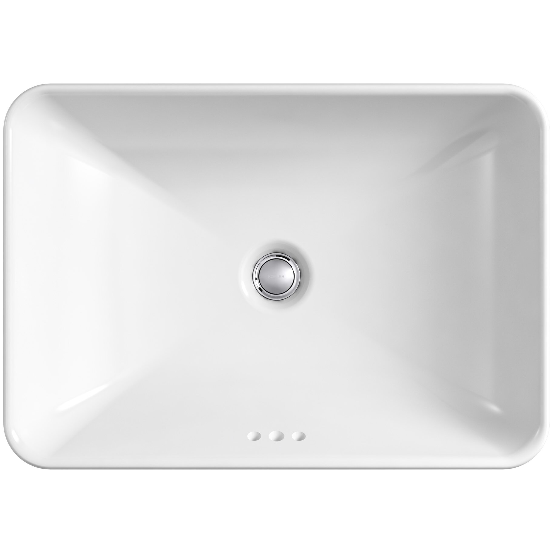 Kohler Vox Sink : Kohler Vox Rectangle Vessel Above-Counter Bathroom Sink in White ...