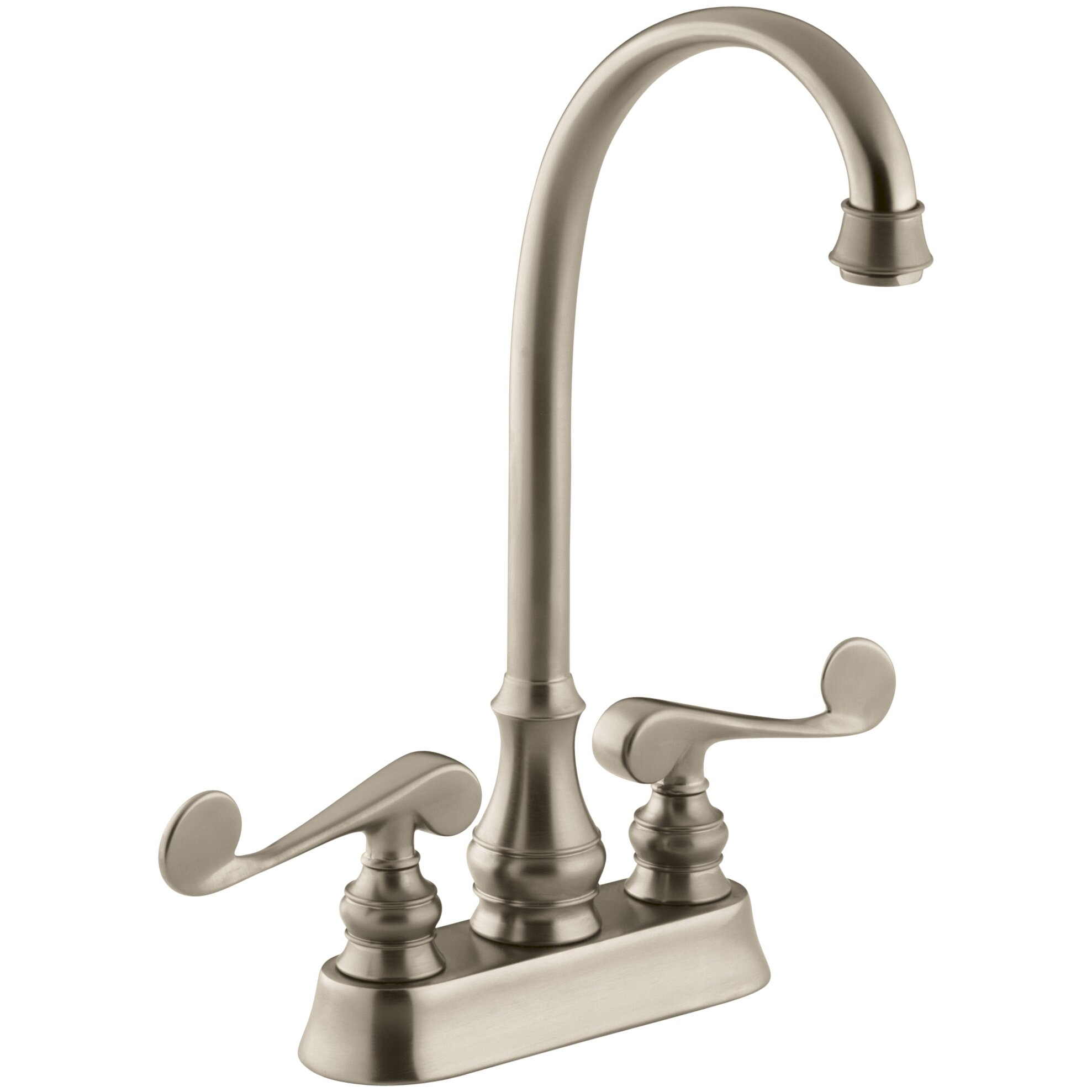 Bar Sink Faucet : ... Revival Two-Hole Centerset Bar Sink Faucet with Scroll Lever Handles