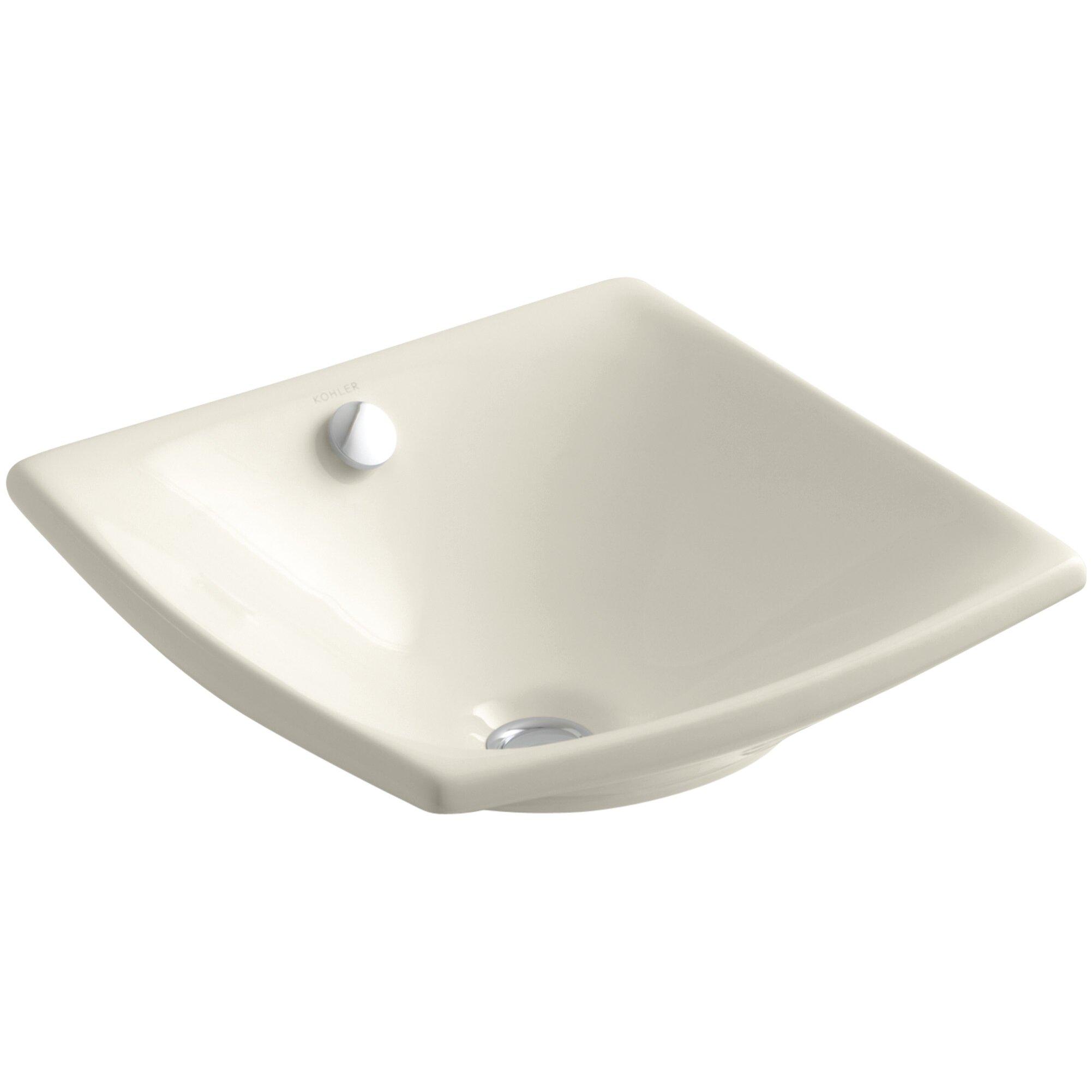 Kohler Escale Vessel Above Counter Bathroom Sink With
