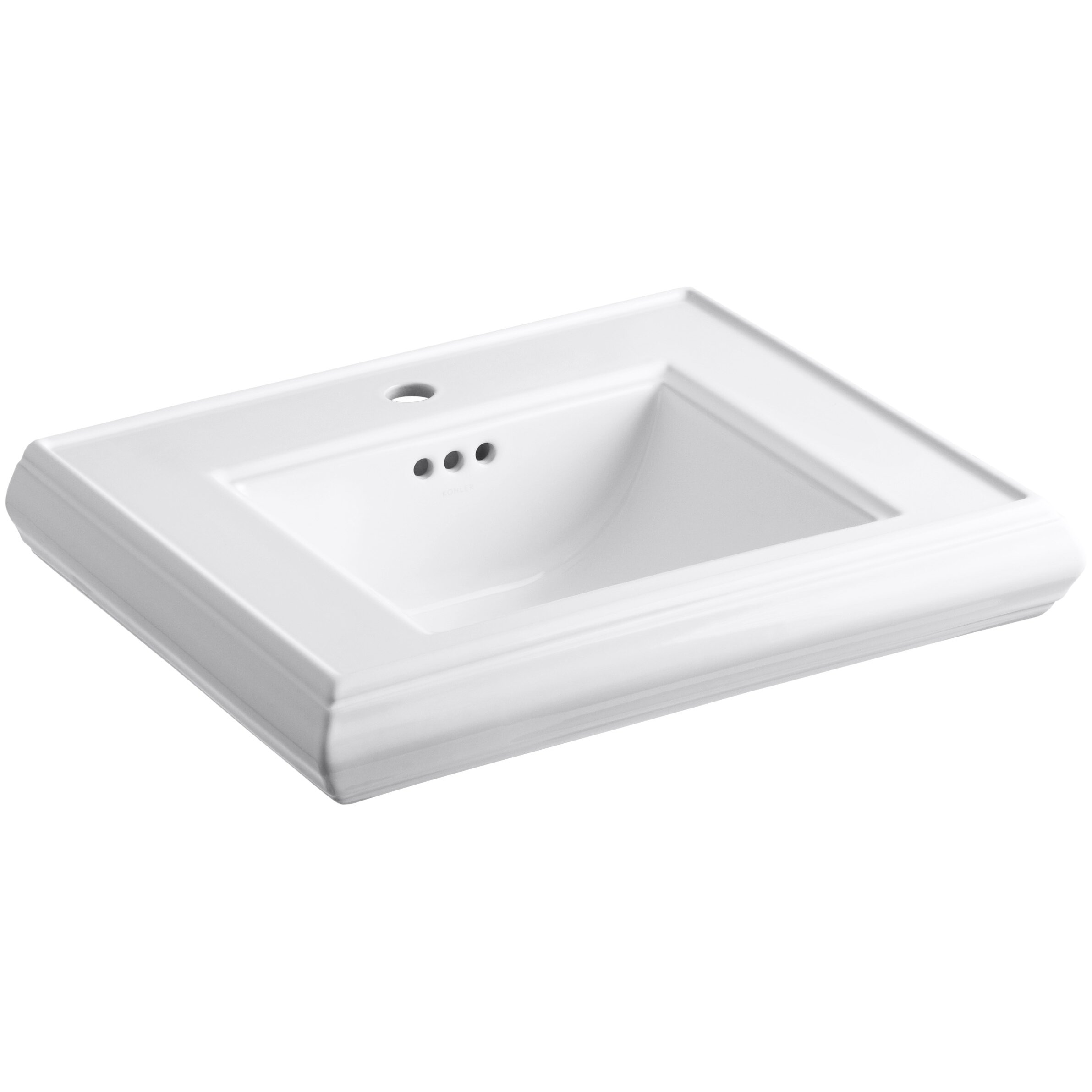 Kohler Memoirs 24 Pedestal Sink : Kohler Memoirs Pedestal Bathroom Sink Basin with Single Faucet Hole ...