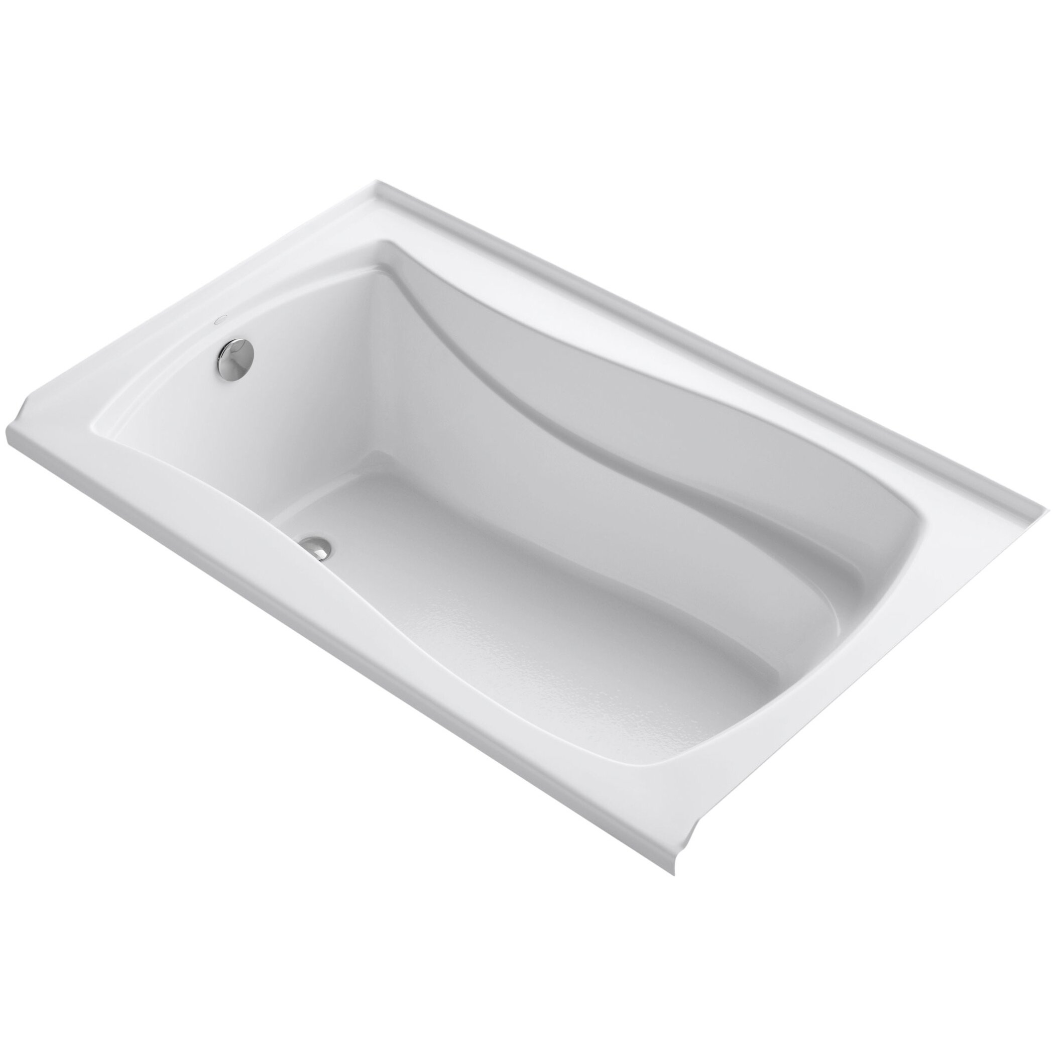 mariposa alcove vibracoustic 60 x 36 soaking bathtub wayfair