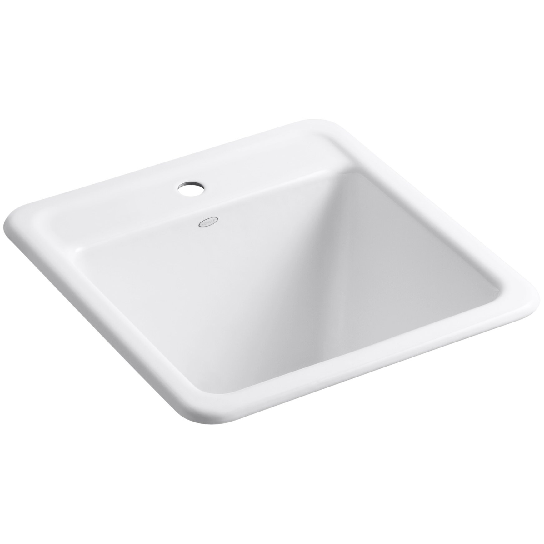... Park Falls Top-Mount/Undermount Utility Sink with Single Faucet Hole