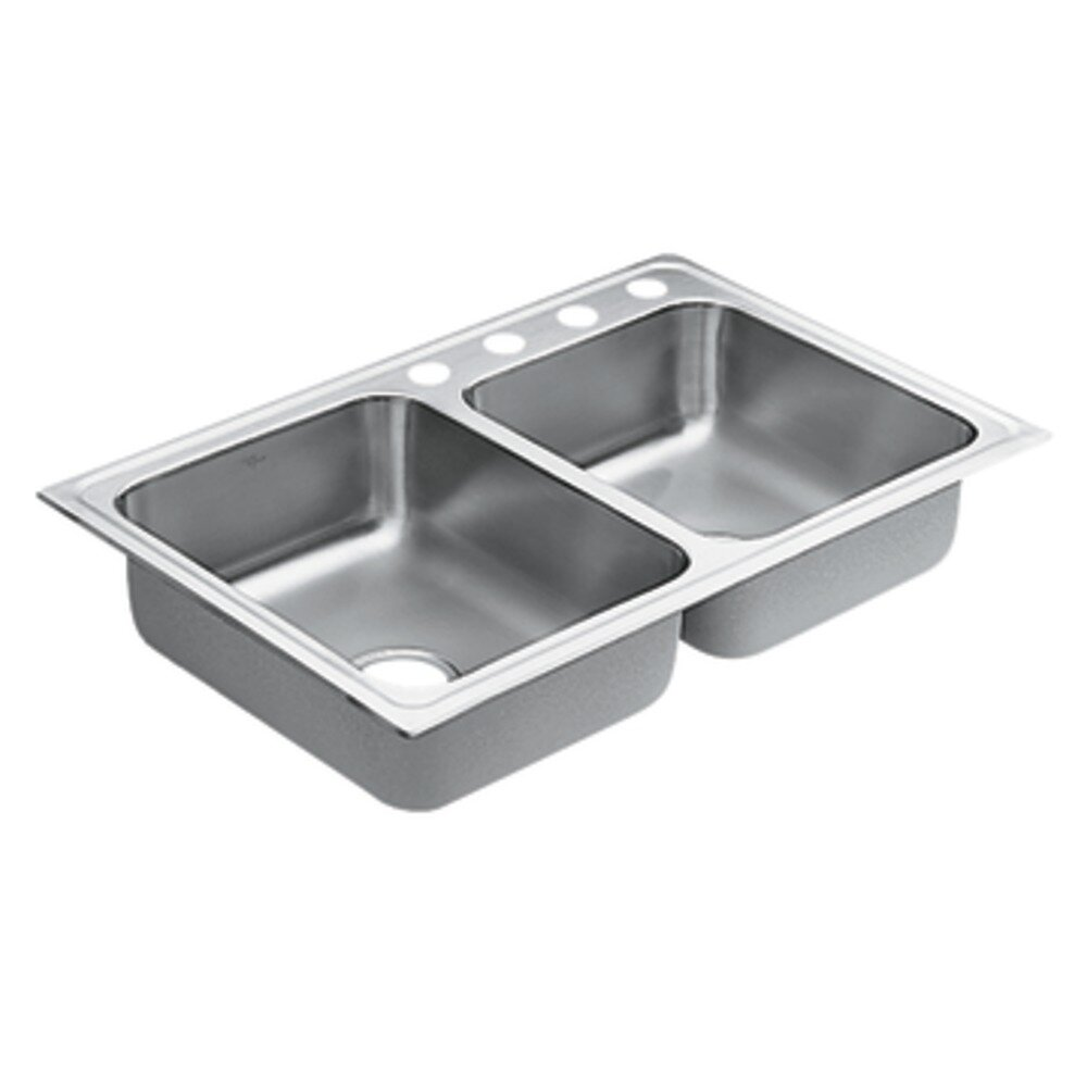 Drop In Kitchen Sinks Double Bowl : 1800 Series Double Bowl Drop-In Kitchen Sink Wayfair