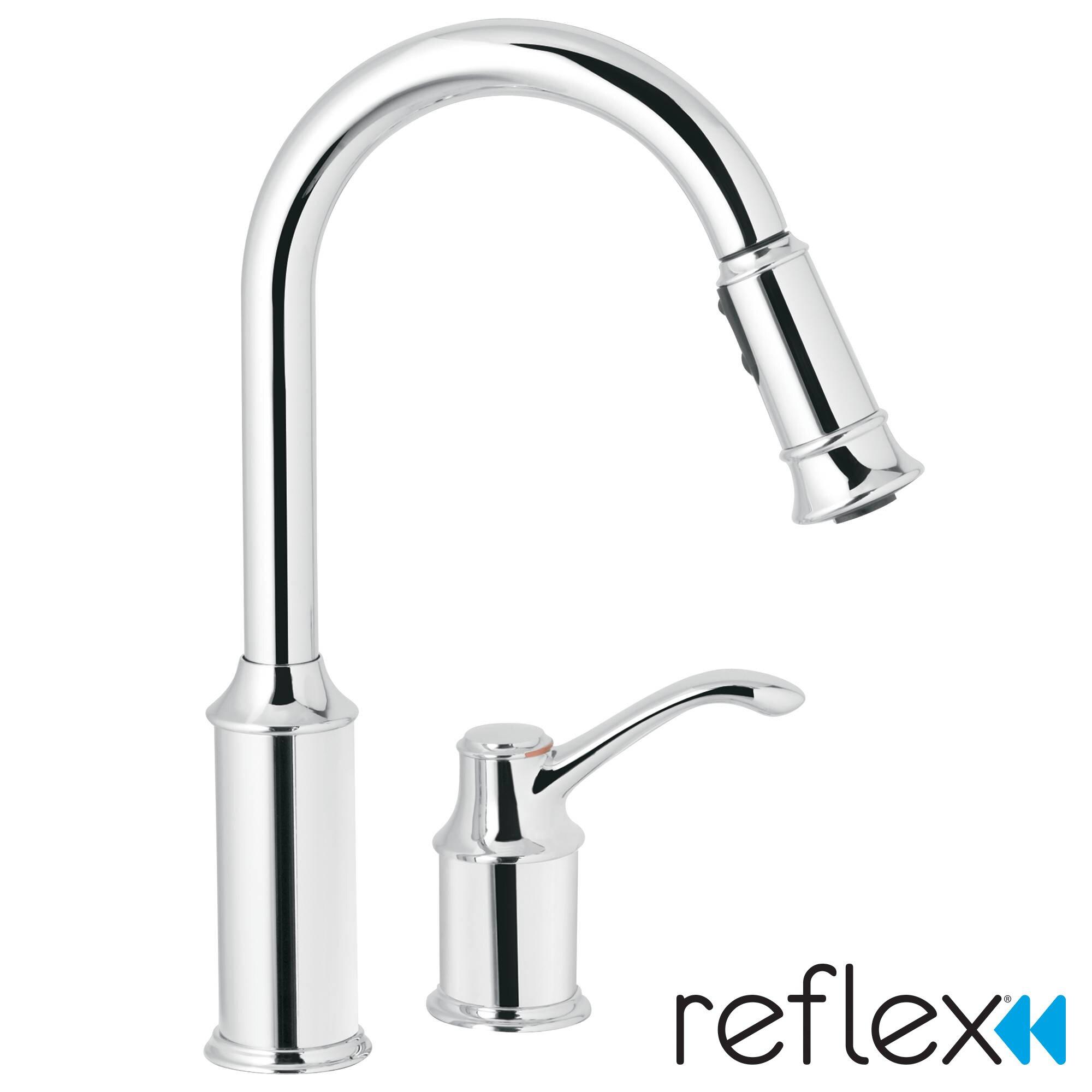 moen aberdeen single handle widespread kitchen faucet