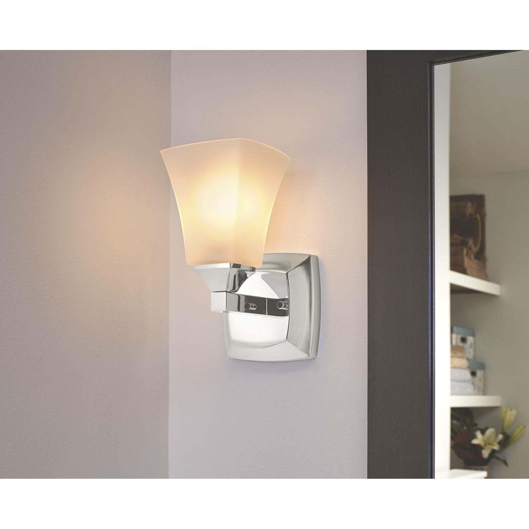 Moen Voss 1 Light Bath Vanity Light Reviews Wayfair