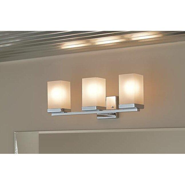 Bathroom Vanity Lights Reviews : Moen 90 Degree 3 Light Bath Vanity Light & Reviews Wayfair