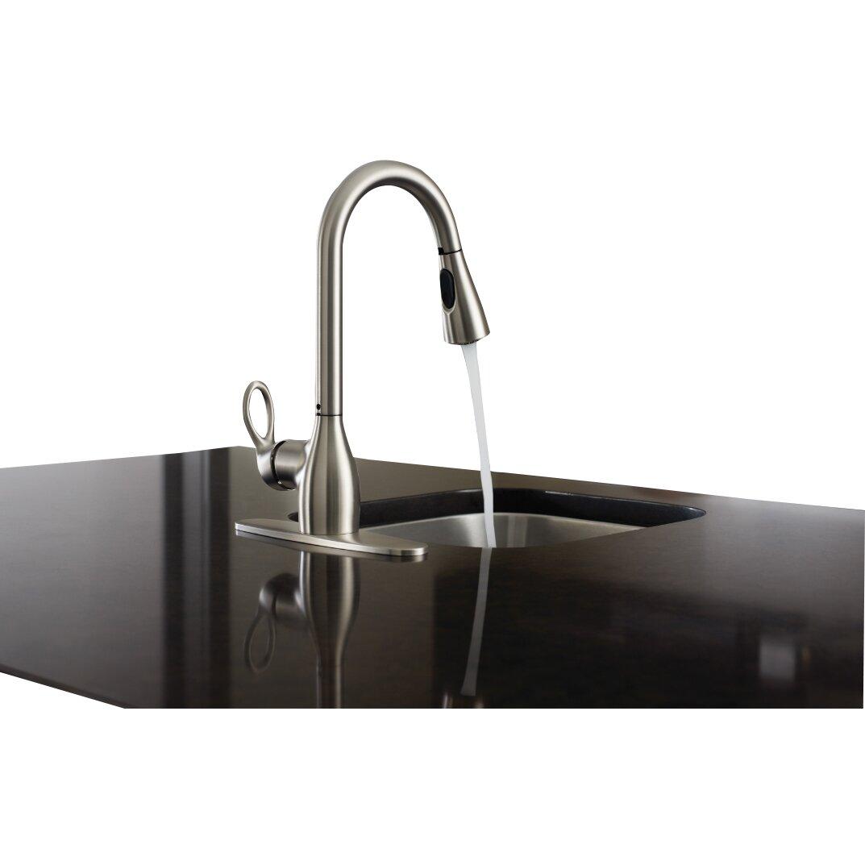 kleo single handle kitchen faucet wayfair moen braemore one handle kitchen faucet 87230srs