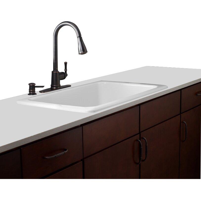 kleo single handle kitchen faucet wayfair moen ca87011srs kleo single handle pulldown kitchen faucet