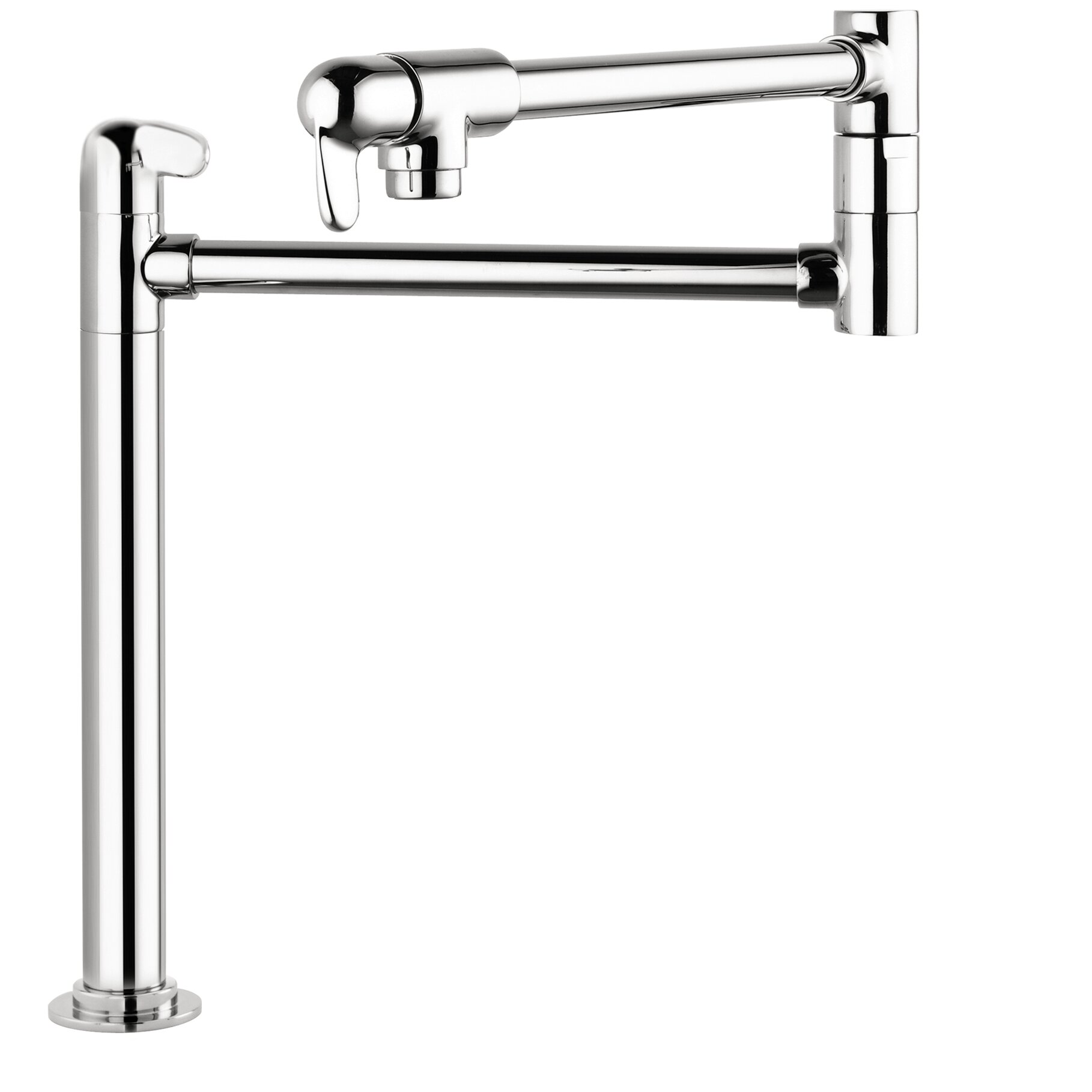 Allegro E Single Handle Deck Mounted Pot Filler Faucet