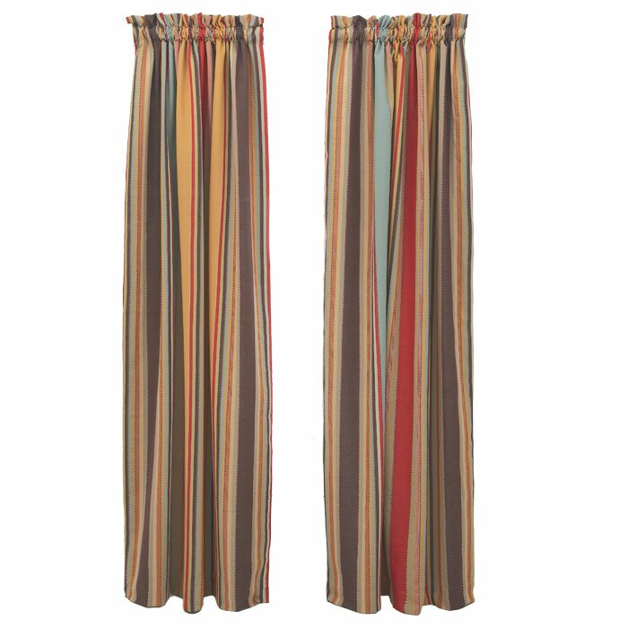 Pine Cone Hill Whitney Cotton Rod Pocket Single Curtain
