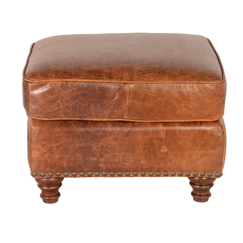 Alexus Leather Ottoman Wayfair