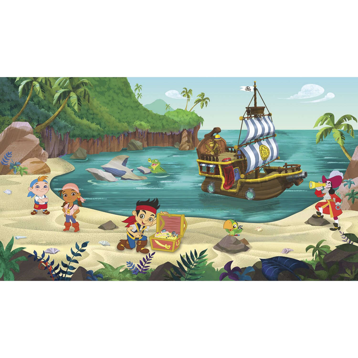 jake and the never land pirates prepasted wall mural wayfair star wars ep vii prepasted surestrip wall mural wall