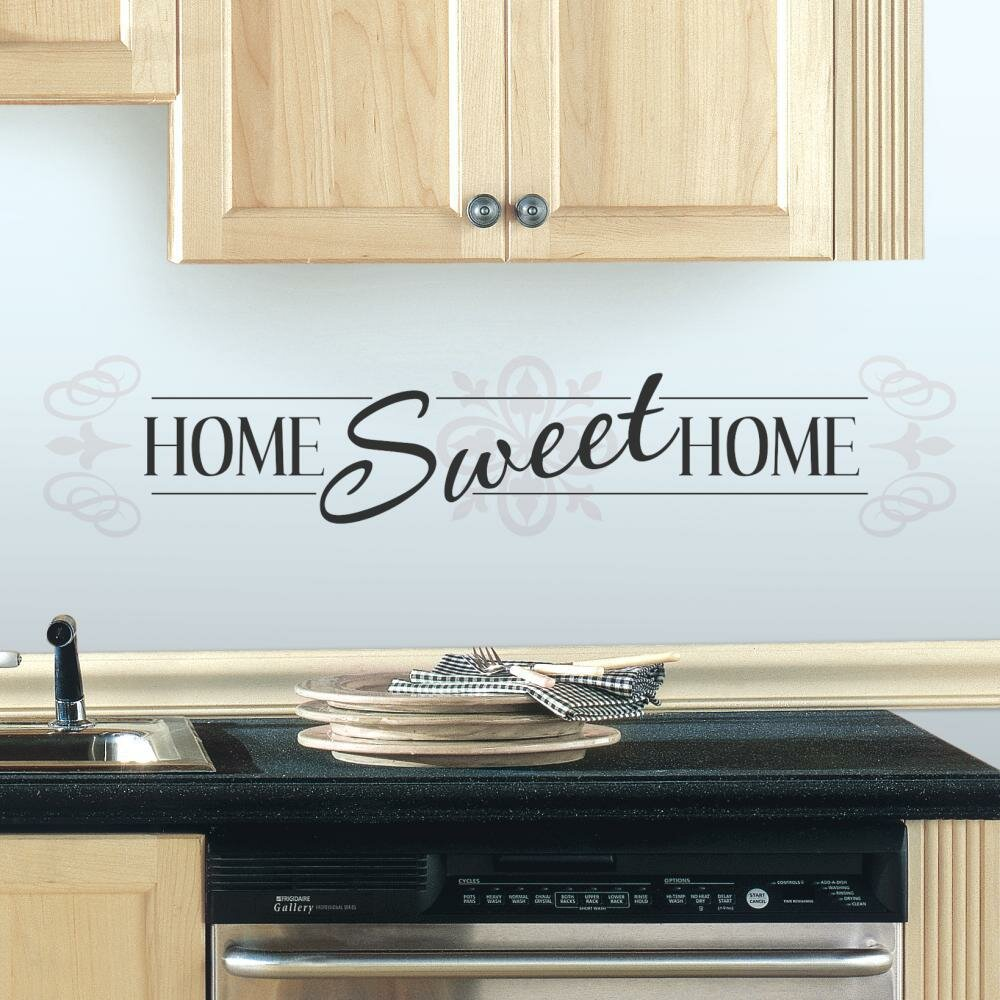 Mates home sweet home peel and stick wall decal amp reviews wayfair
