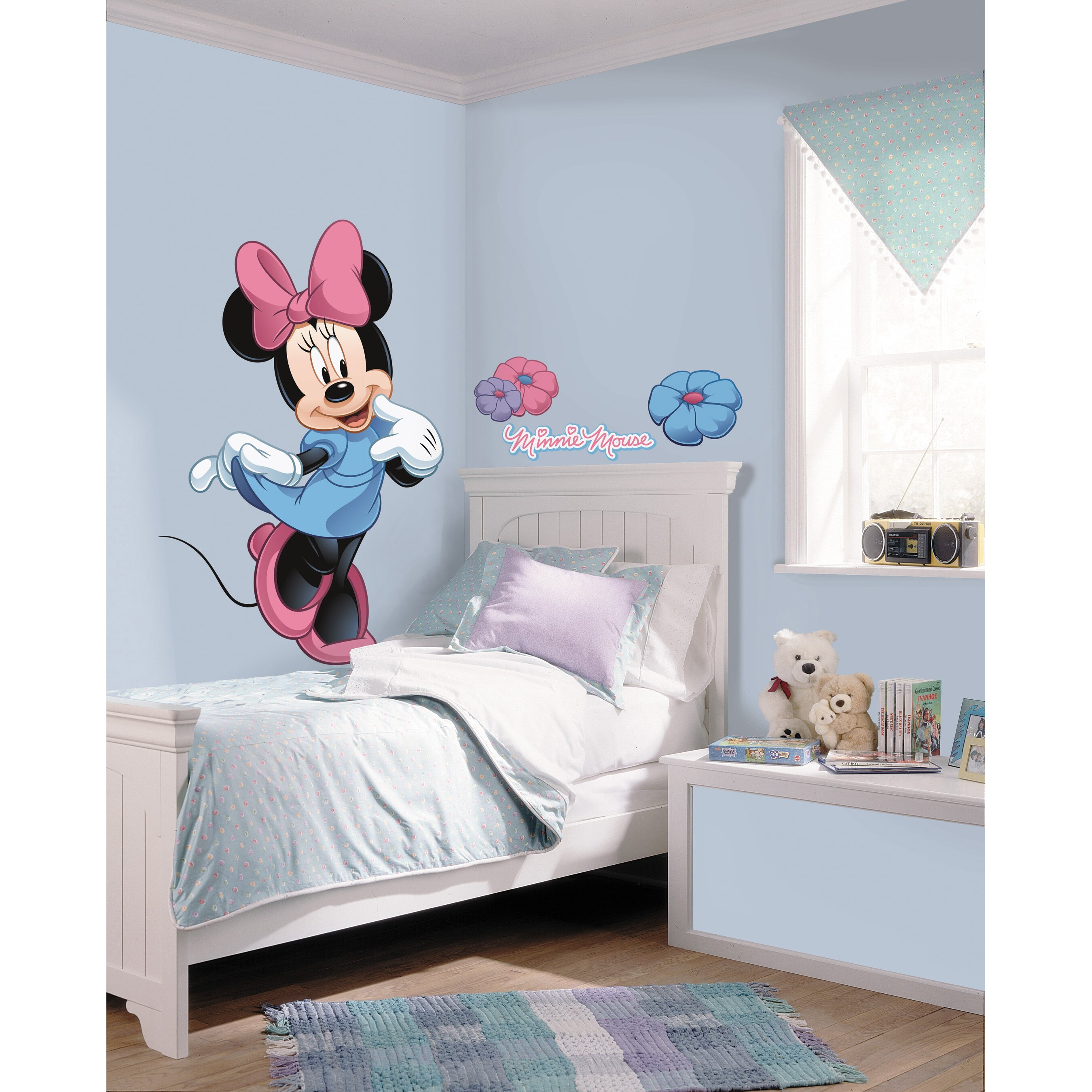 room mates mickey and friends minnie mouse wall decal reviews wayfair. Black Bedroom Furniture Sets. Home Design Ideas