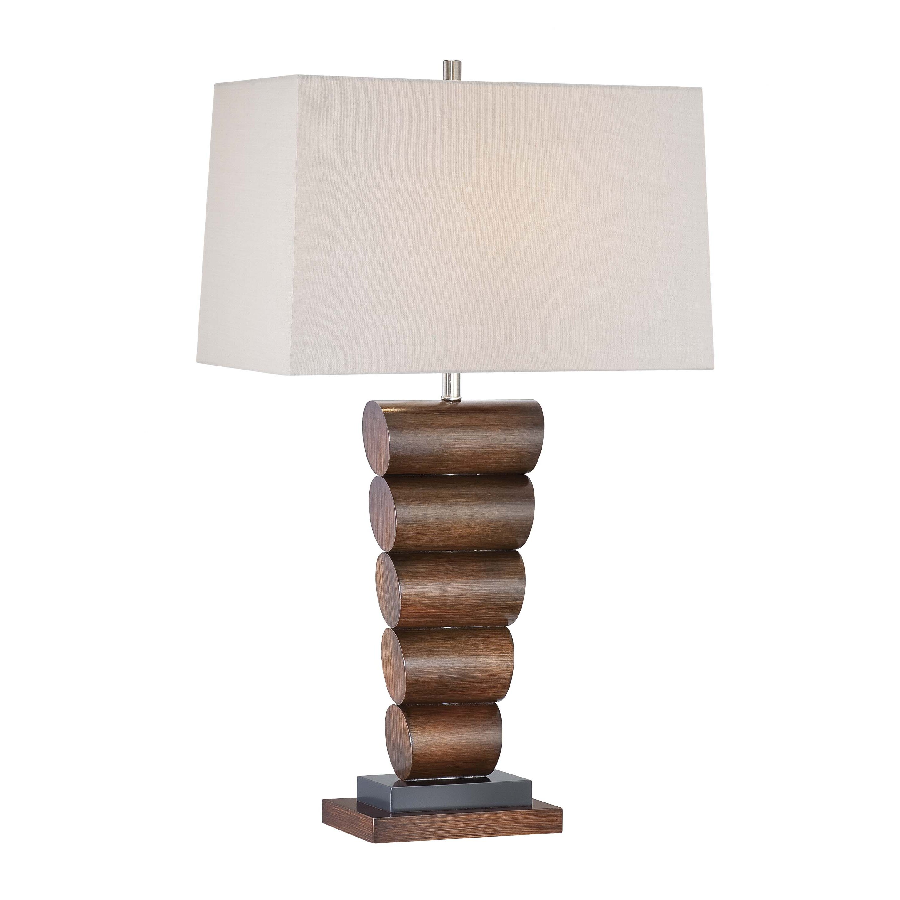 31 h table lamp with rectangular shade by minka lavery. Black Bedroom Furniture Sets. Home Design Ideas