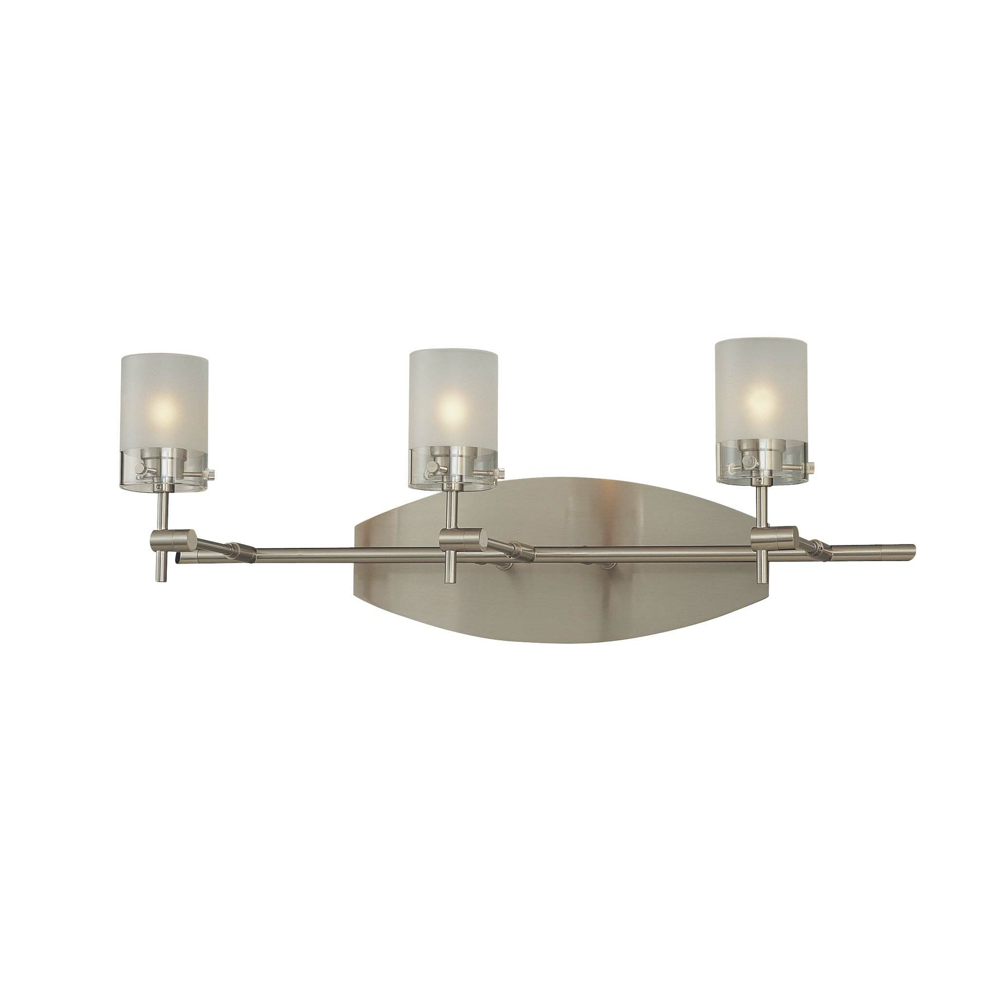 george kovacs bathroom lighting george kovacs 3 light vanity light amp reviews wayfair 18454