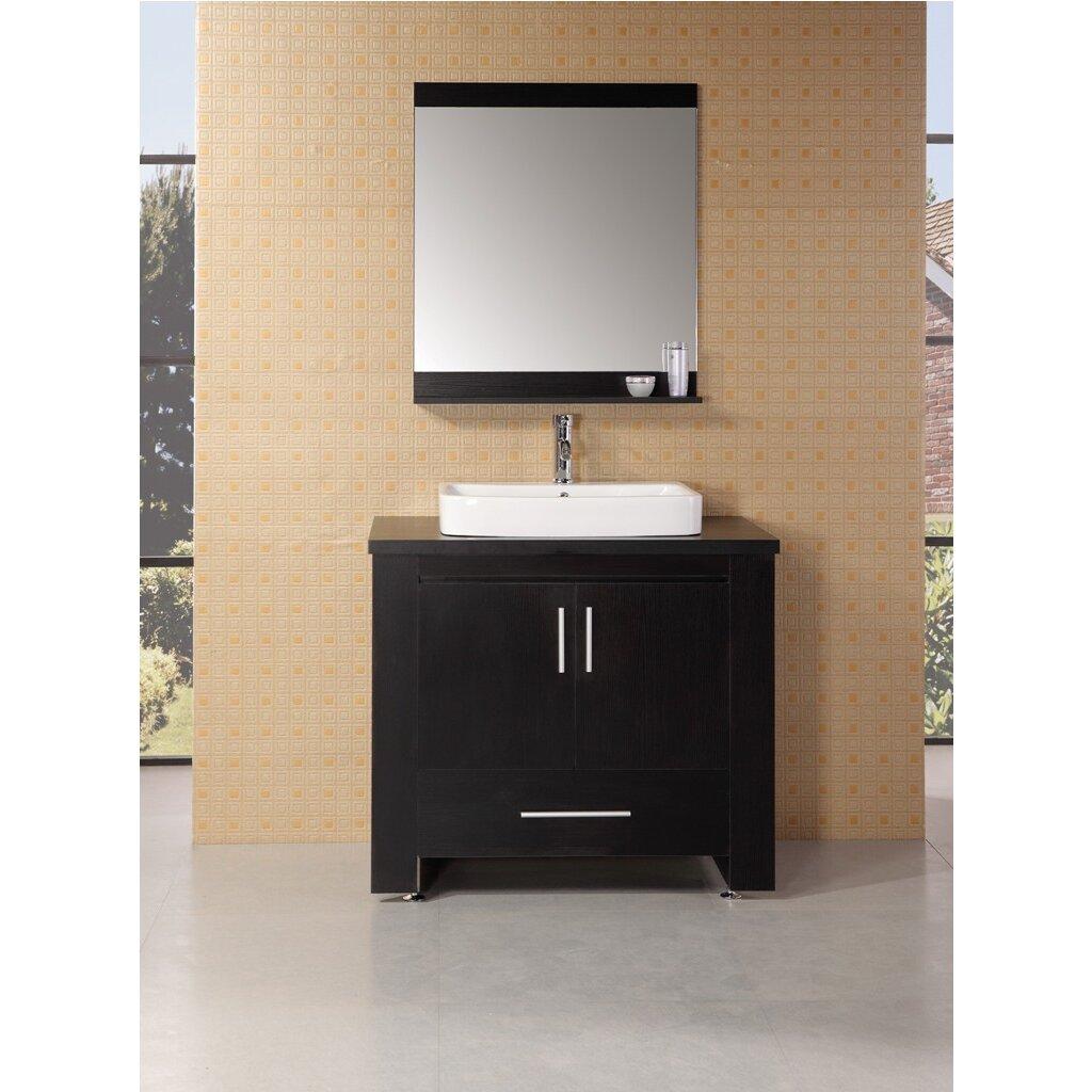 Design Element Washington 36 Single Modern Bathroom Vanity Set With Mirror Reviews Wayfair