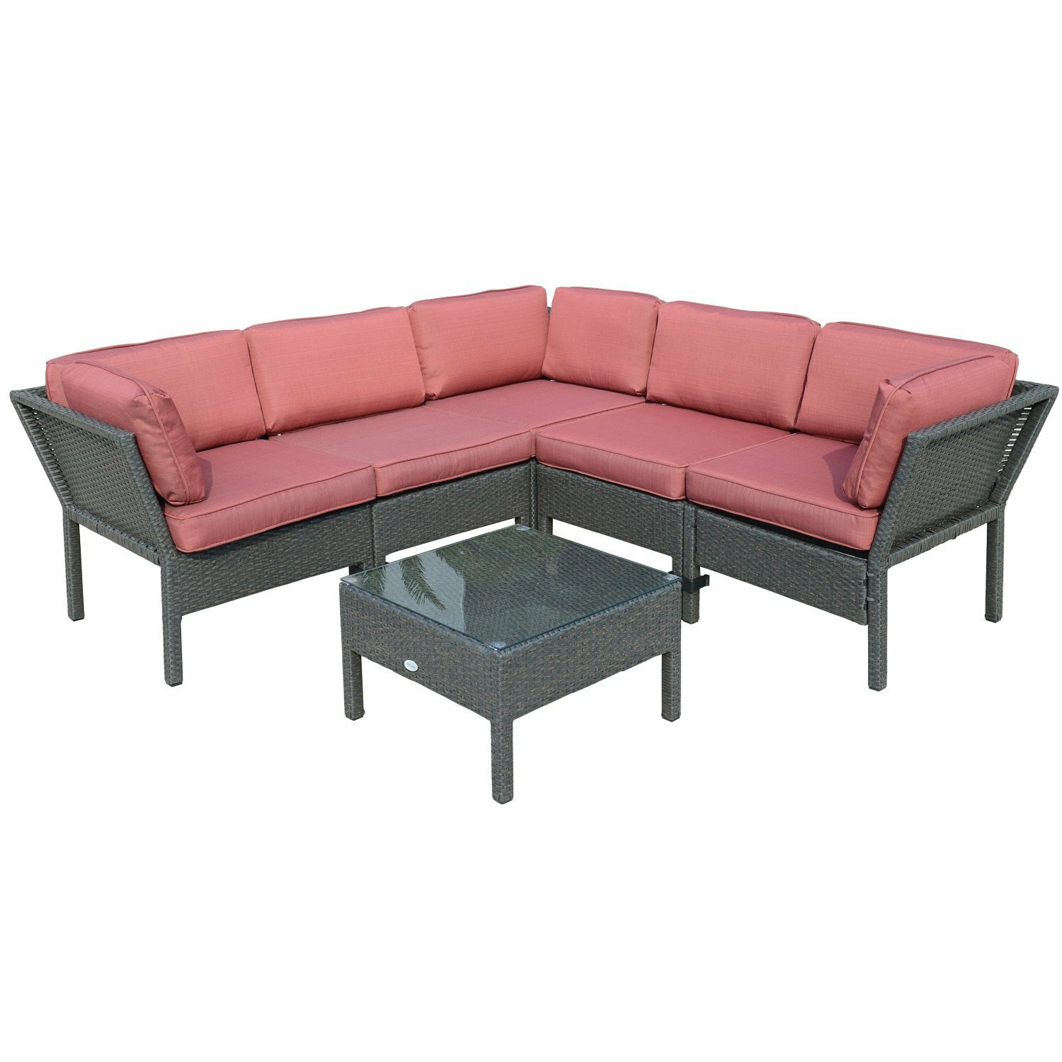 Outsunny patio replacement cushions outsunny 3 seater for Aosom llc outsunny chaise lounge