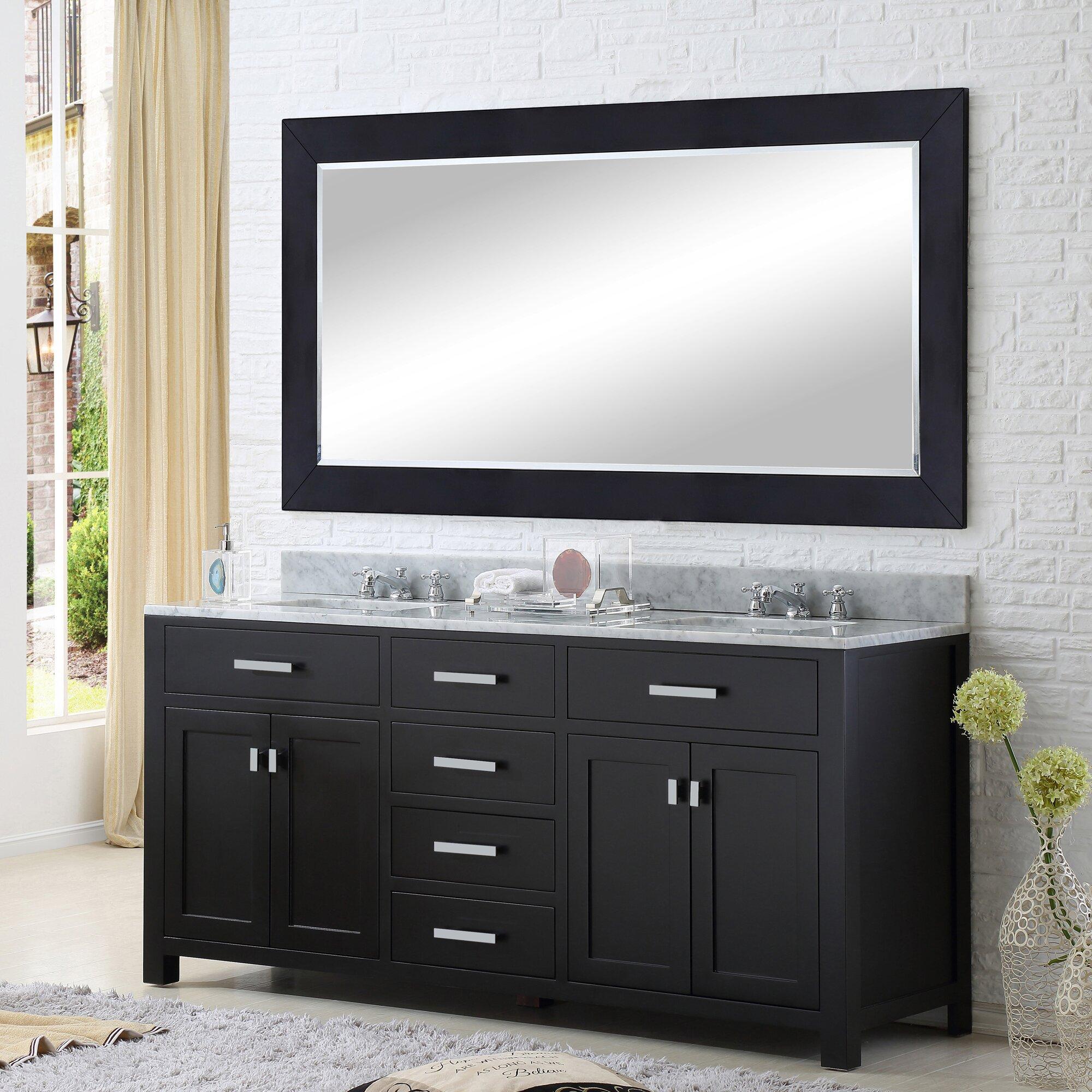 "dCOR design 60"" Double Bathroom Vanity Set with"