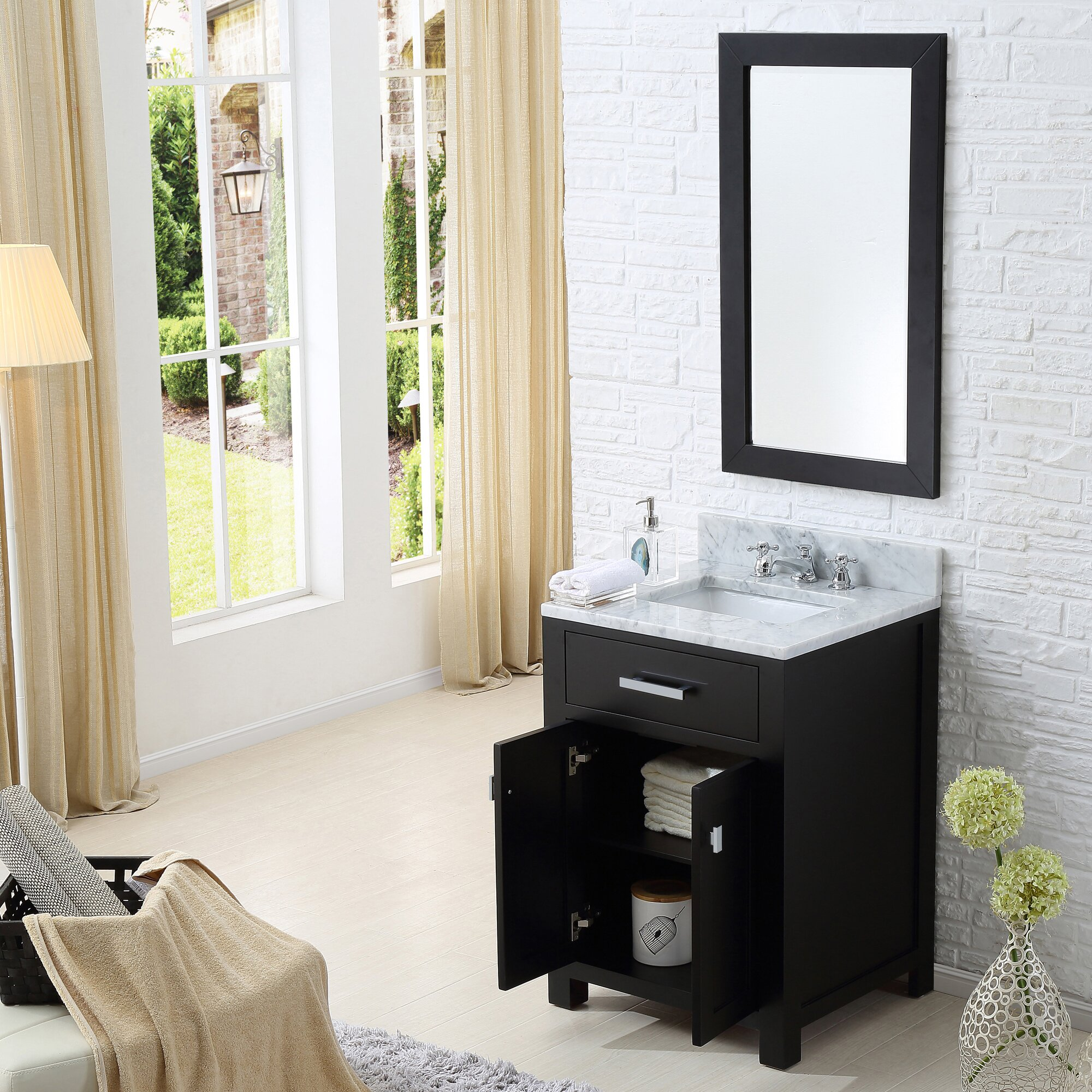 Madison 24 Quot Single Bathroom Vanity Set With Mirror Wayfair