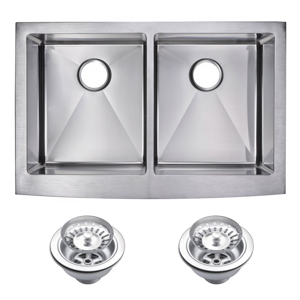 Kitchen Sink Reviews : Water Creation Double Bowl Kitchen Sink & Reviews Wayfair