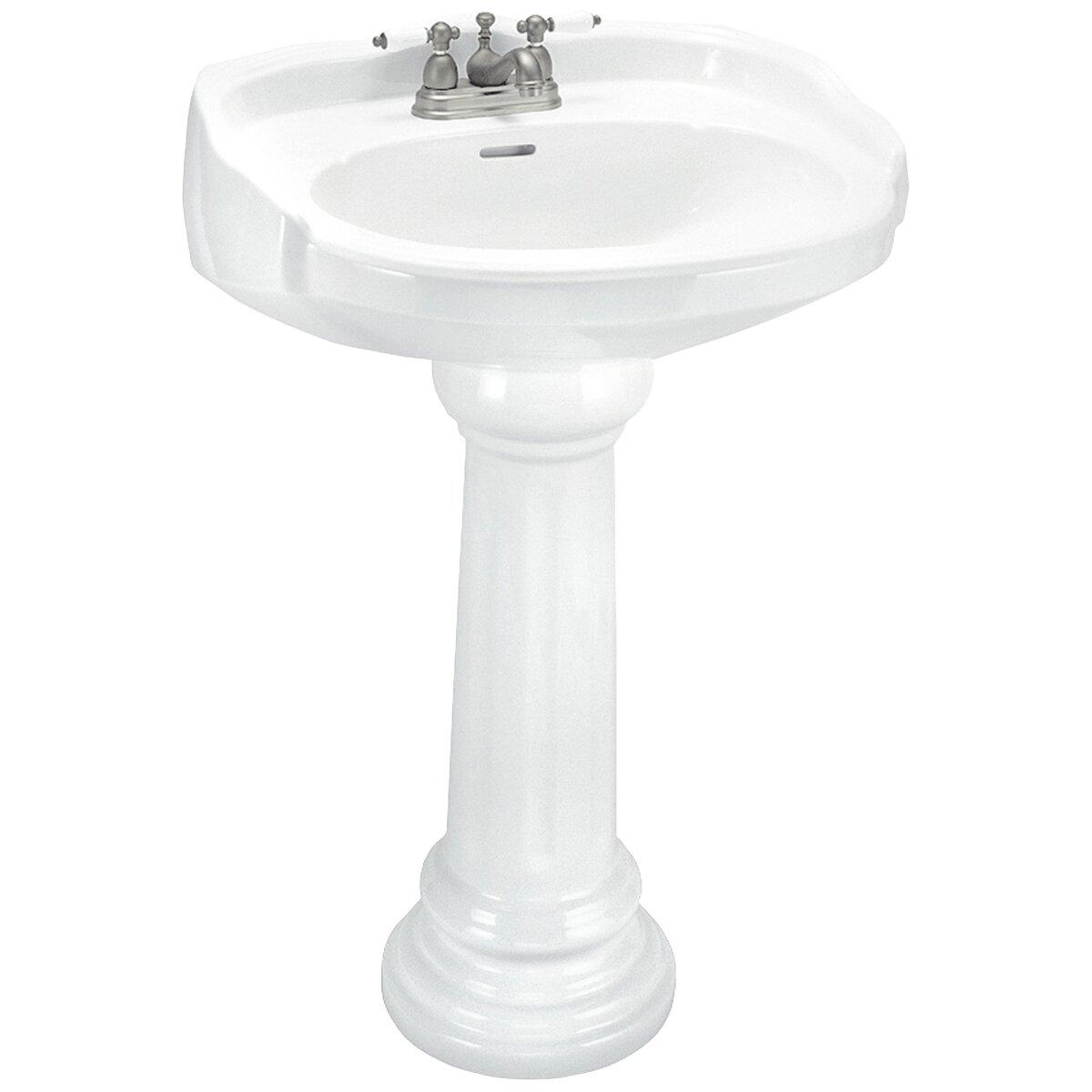 Elizabethan Classics Aberdeen Petite Pedestal Sink Set & Reviews ...