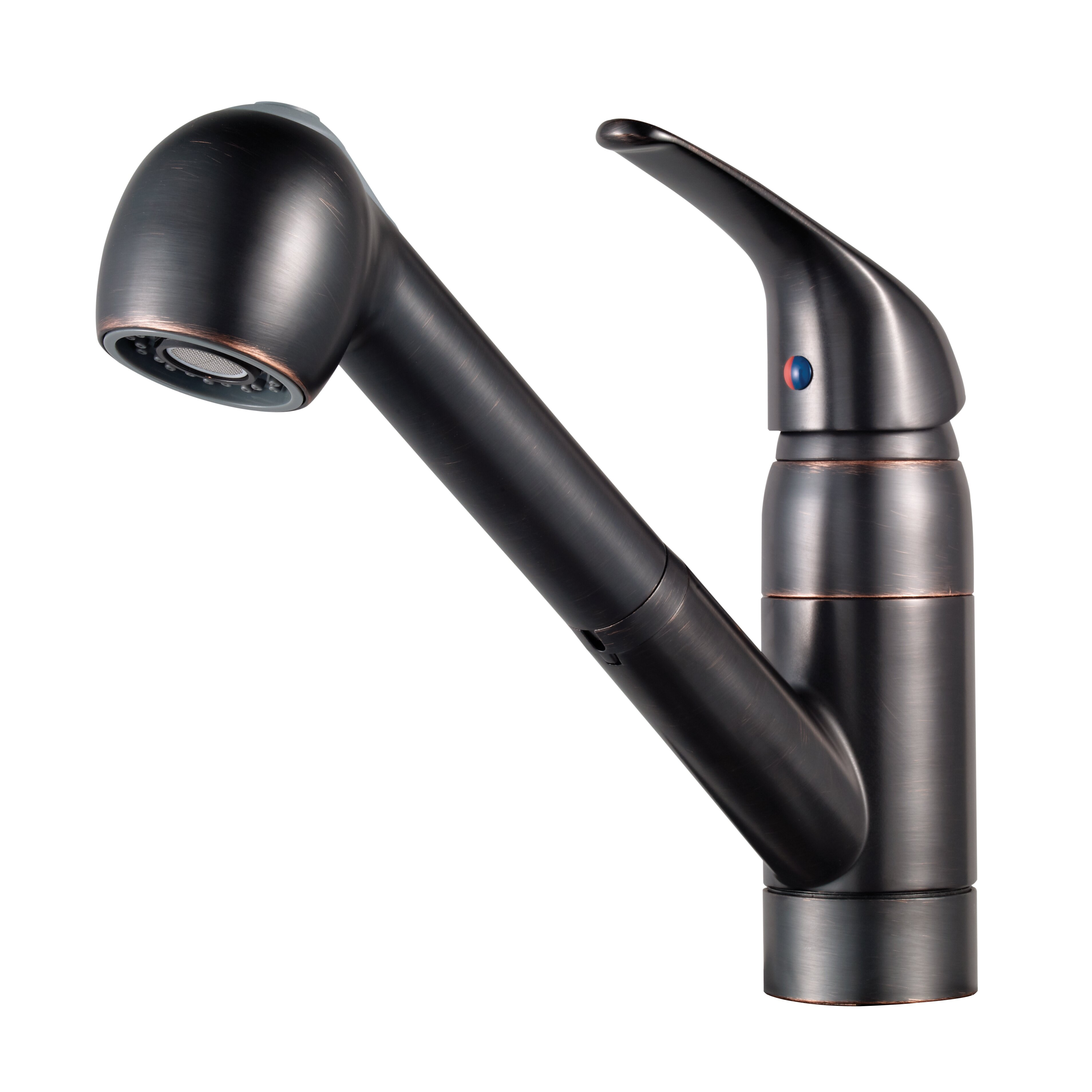single handle pull out kitchen faucet wayfair