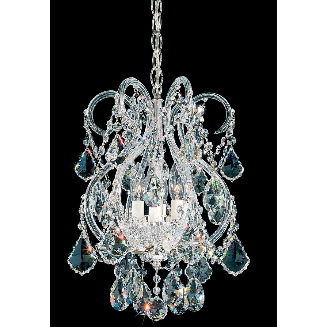 Schonbek Chandelier Wayfair: Olde World 4 Light Crystal Chandelier