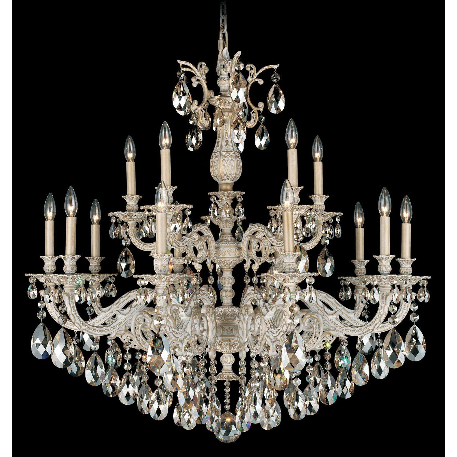 Schonbek Chandelier Wayfair: Milano 15 Light Crystal Chandelier