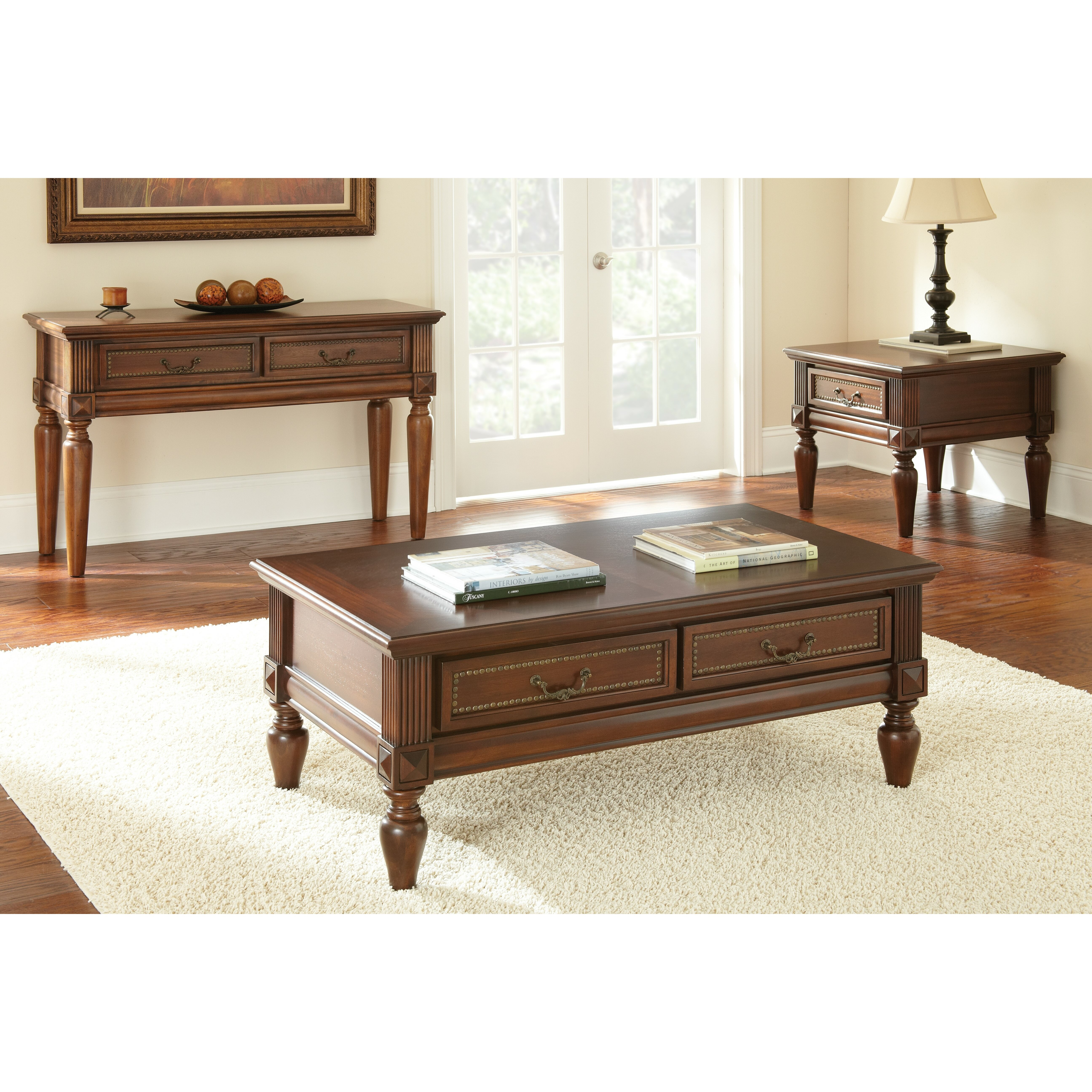 ... Furniture ... Cherry Console & Sofa Tables Steve Silver Furniture SKU