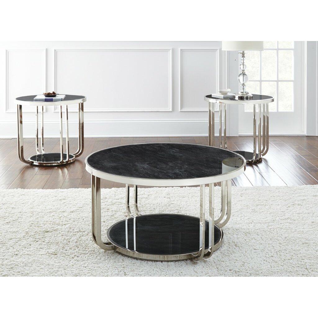 Steve Silver Furniture Rihanna Coffee Table Set Reviews Wayfair Supply