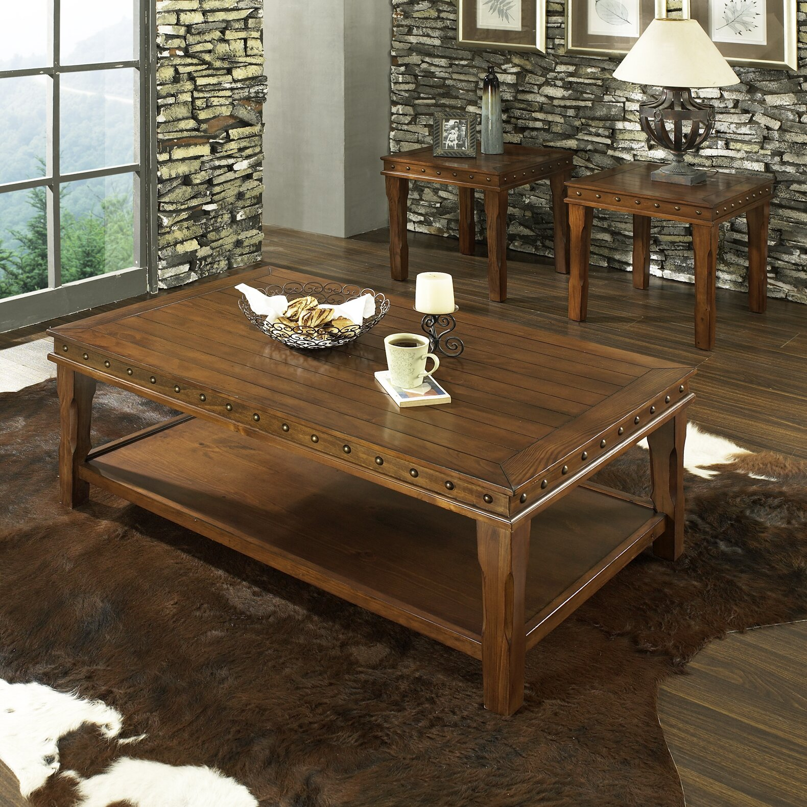 Steve Silver Furniture Odessa 3 Piece Coffee Table Set & Reviews ...