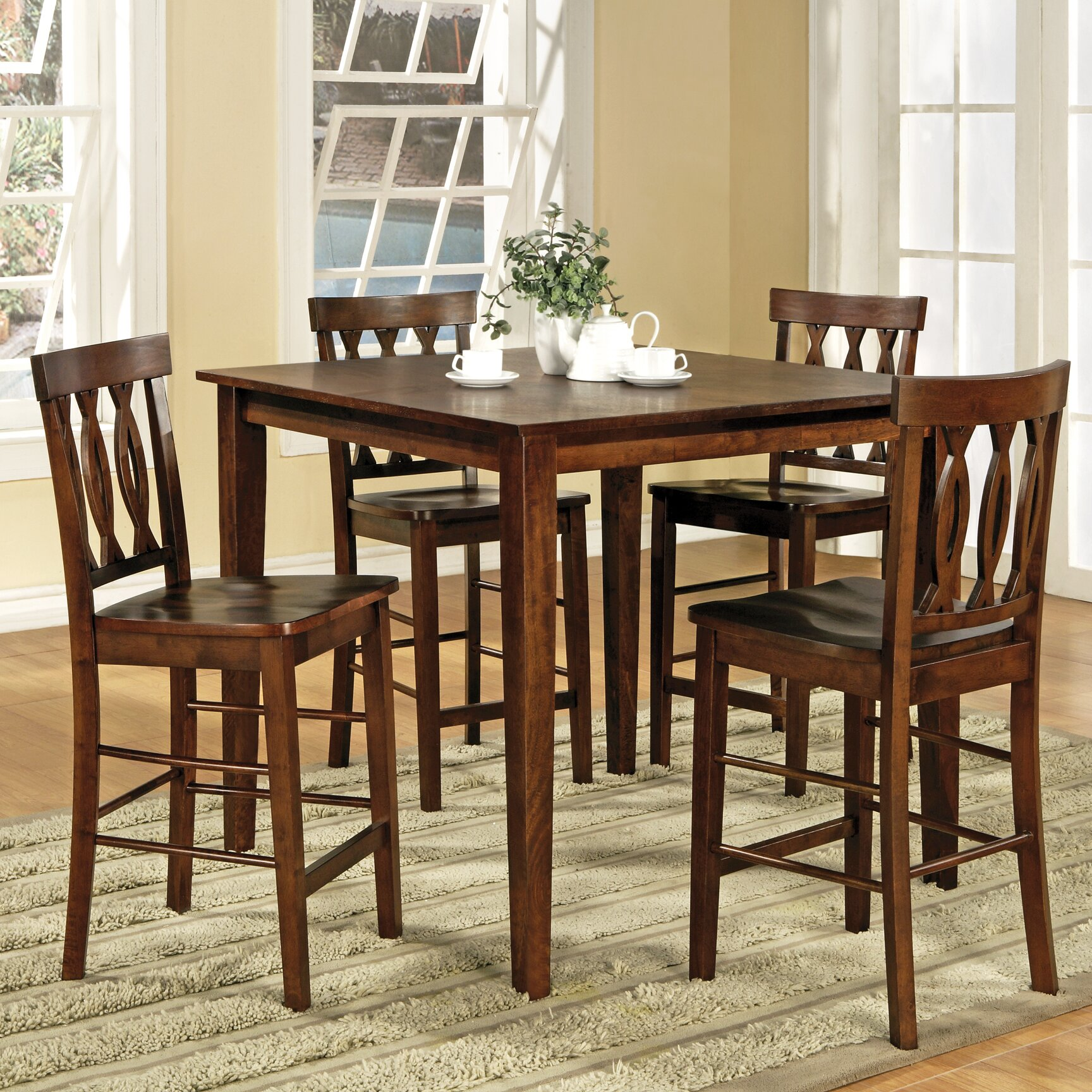 Dinning Set: Steve Silver Furniture Richmond 5 Piece Counter Height