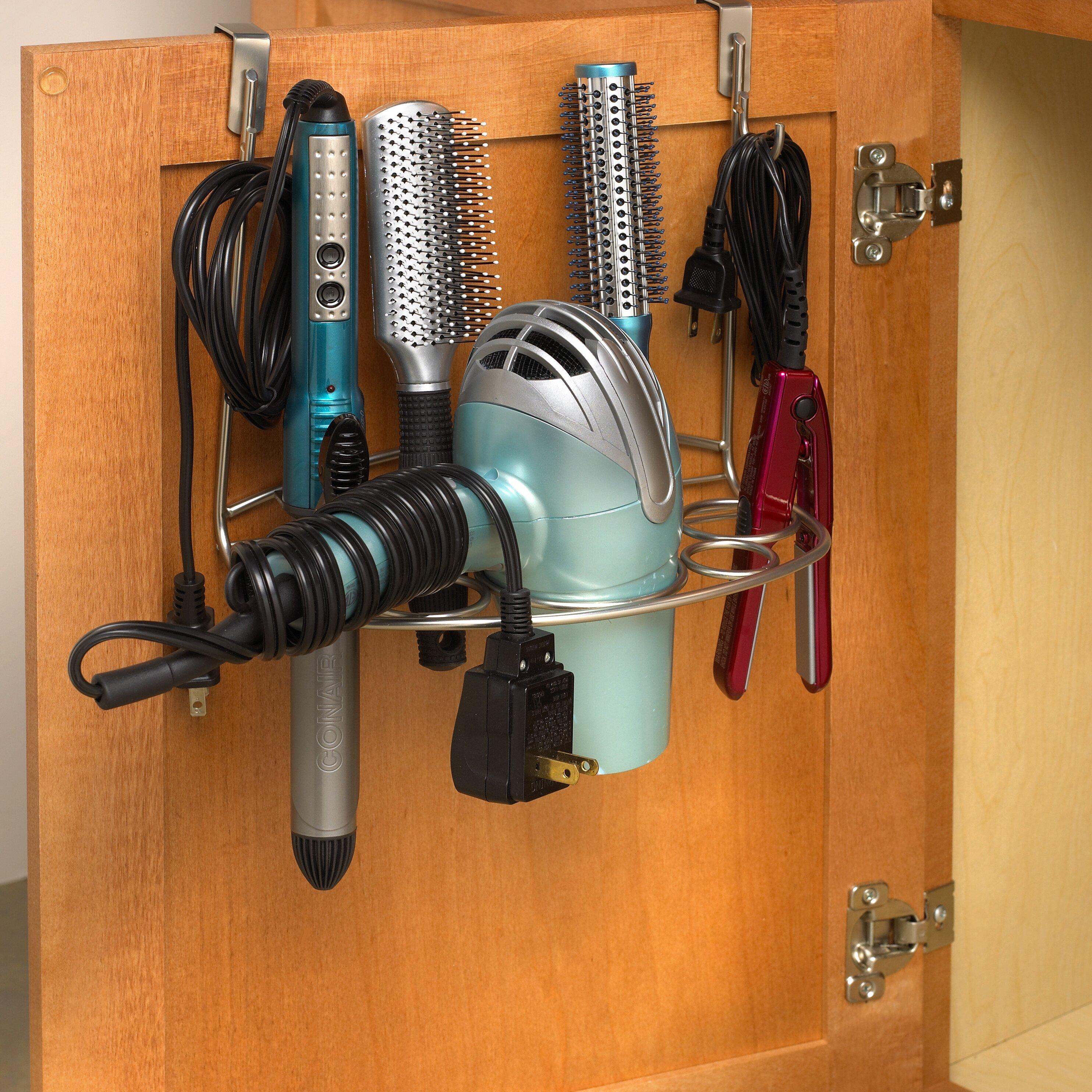 spectrum diversified mybella cabinet door deluxe styling rack reviews wayfair. Black Bedroom Furniture Sets. Home Design Ideas