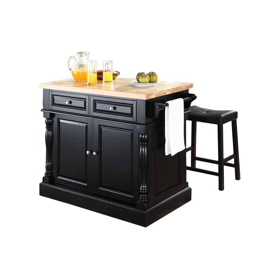 crosley butcher block top kitchen island crosley oxford kitchen island set with butcher block top reviews wayfair 5645