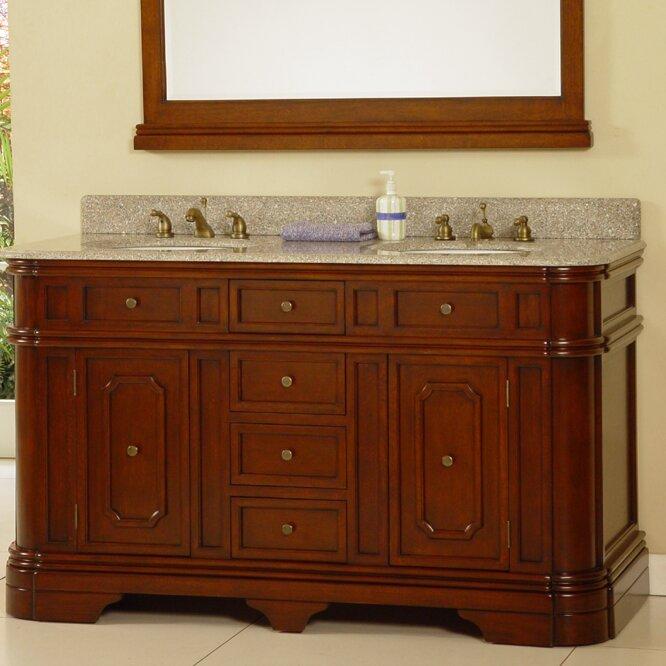 lanza 60 double bathroom vanity set reviews wayfair