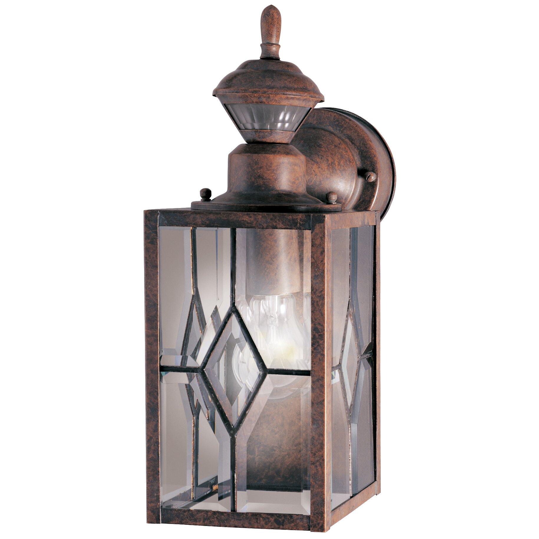 heath zenith motion activated 1 light wall lantern security light. Black Bedroom Furniture Sets. Home Design Ideas