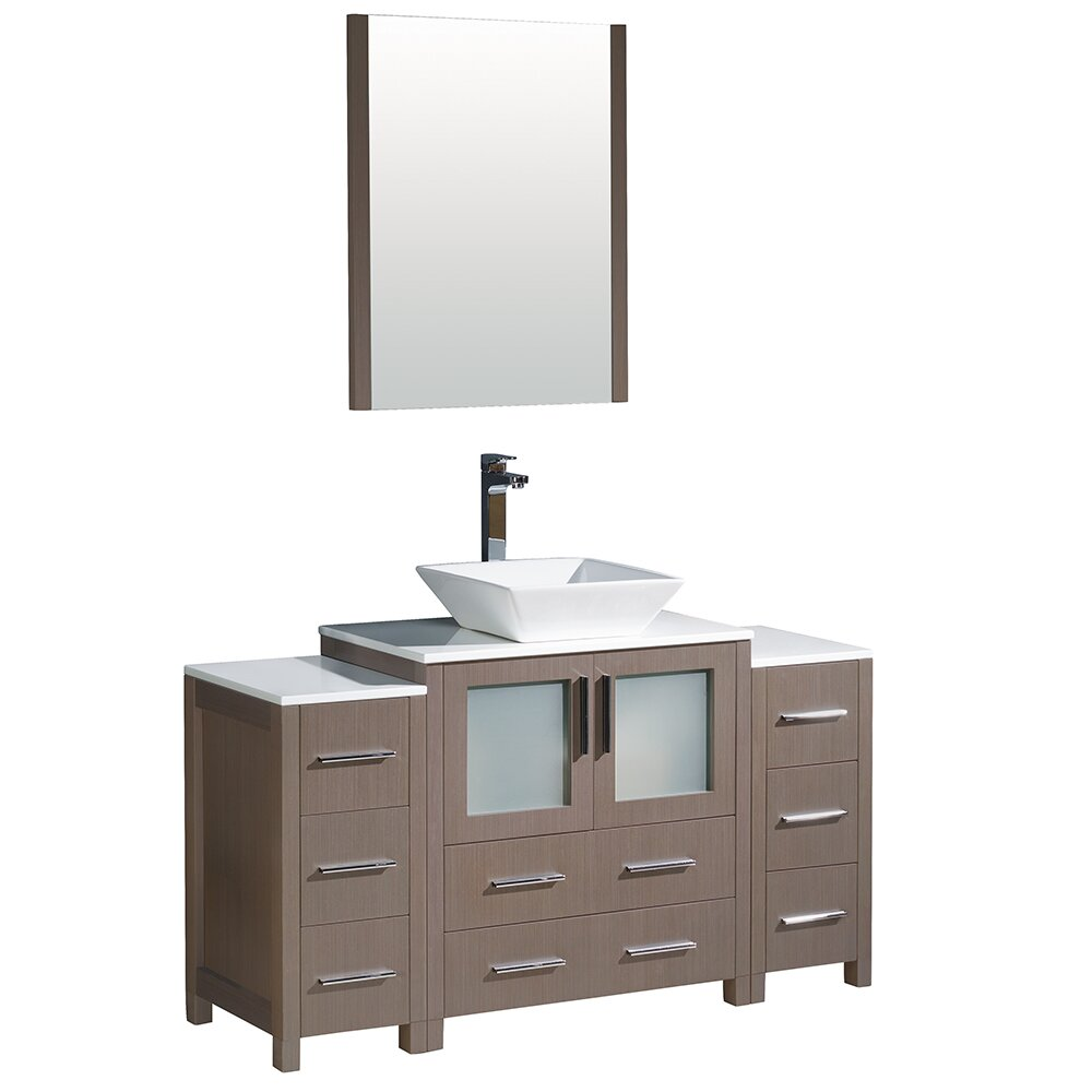 Fresca torino 54 single modern bathroom vanity set with Bathroom sink cabinets modern