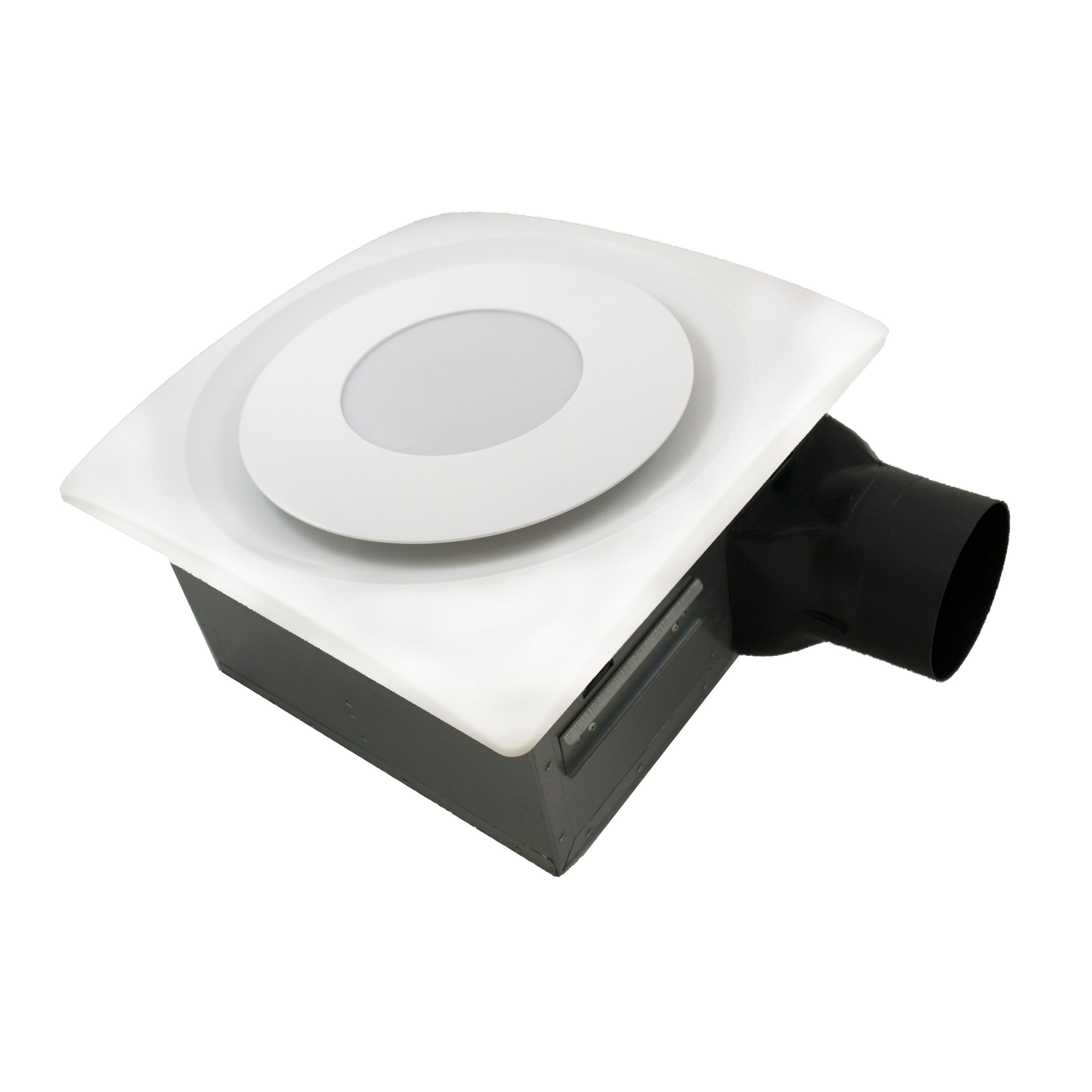 aero pure slimfit 120 cfm bathroom fan with light and sensor reviews. Black Bedroom Furniture Sets. Home Design Ideas
