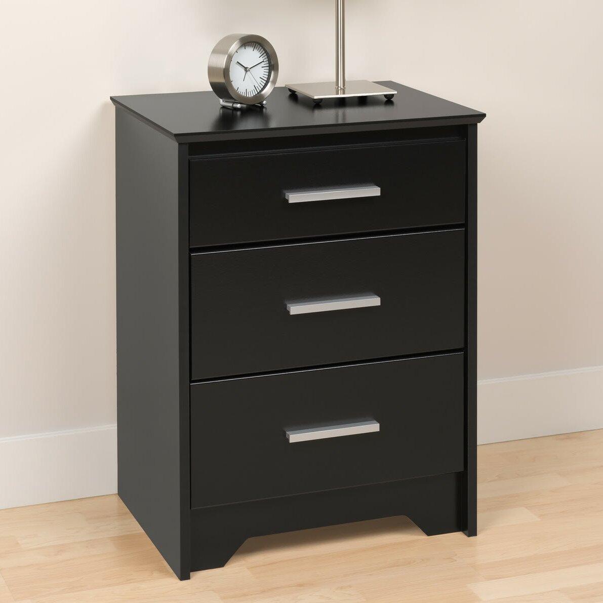 prepac coal harbor 3 drawer night stand reviews wayfair. Black Bedroom Furniture Sets. Home Design Ideas