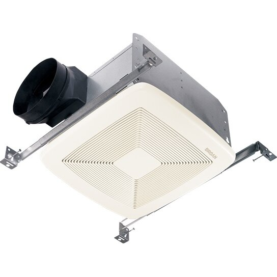 Broan ultra silent 80 cfm energy star quietest bathroom exhaust fan reviews wayfair for Ultra quiet bathroom exhaust fan with light