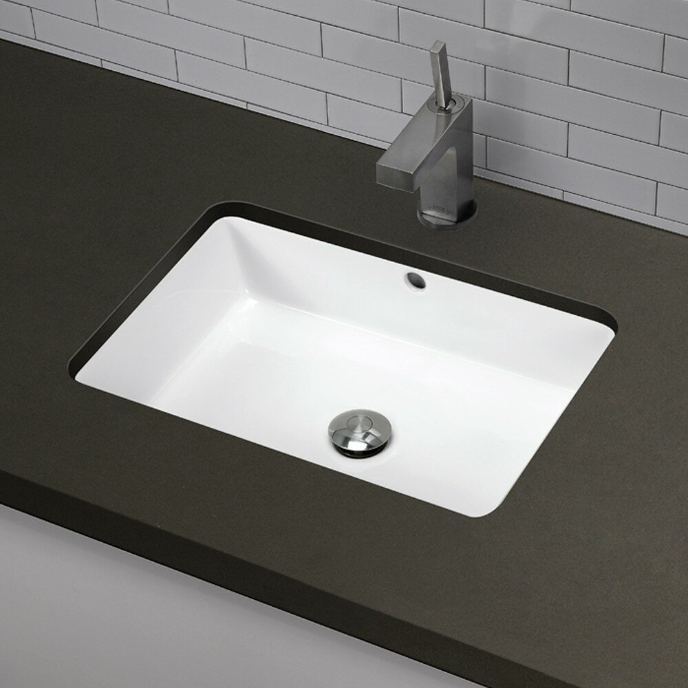 undermount bathroom sinks rectangular decolav classically redefined rectangular undermount 21132