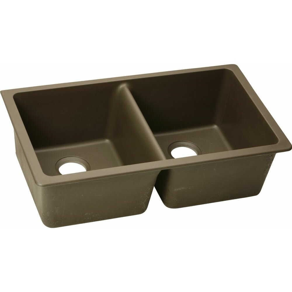 "Elkay Quartz Classic 33"" x 18 75"" Undermount Kitchen Sink"