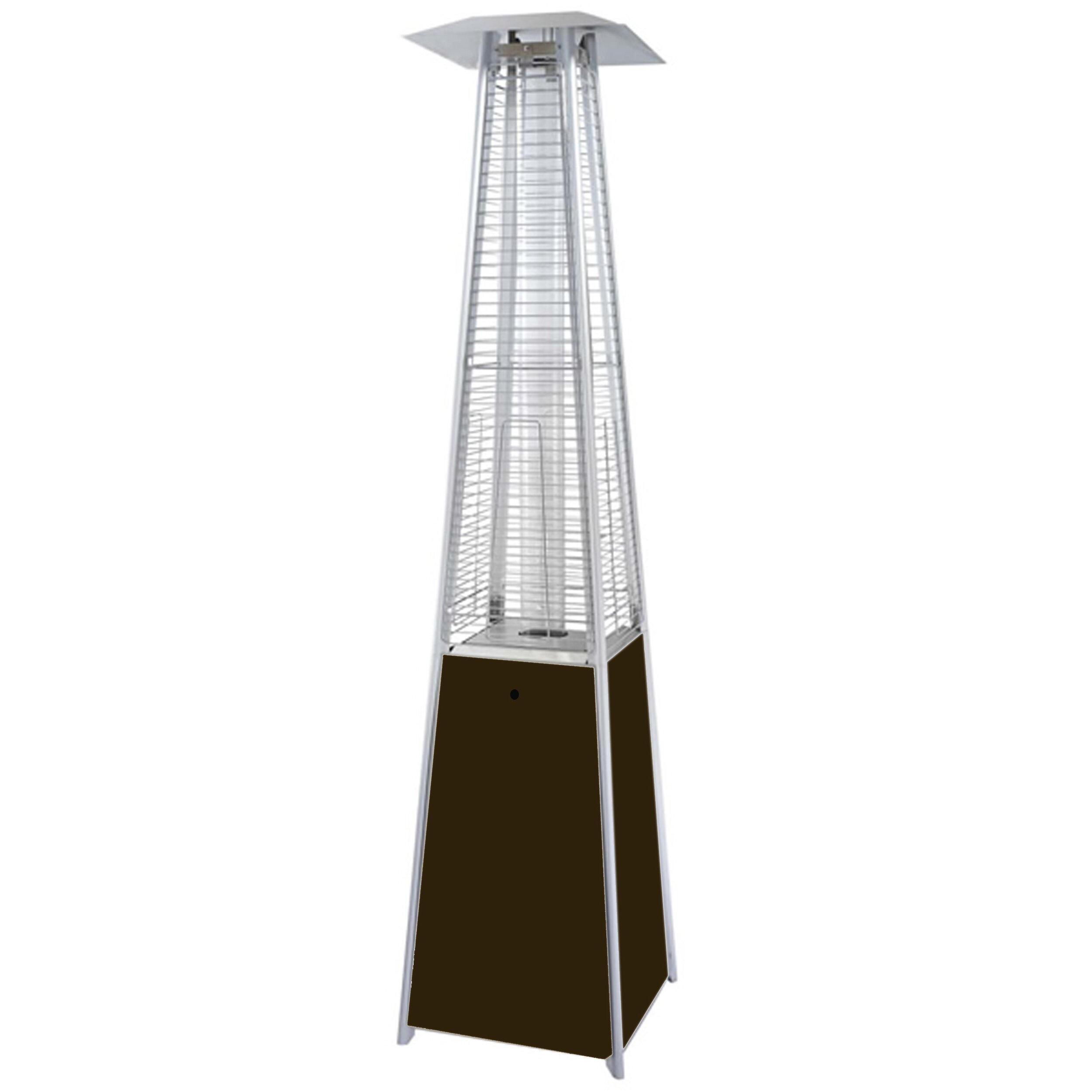 az patio heaters tall propane patio heater reviews wayfair