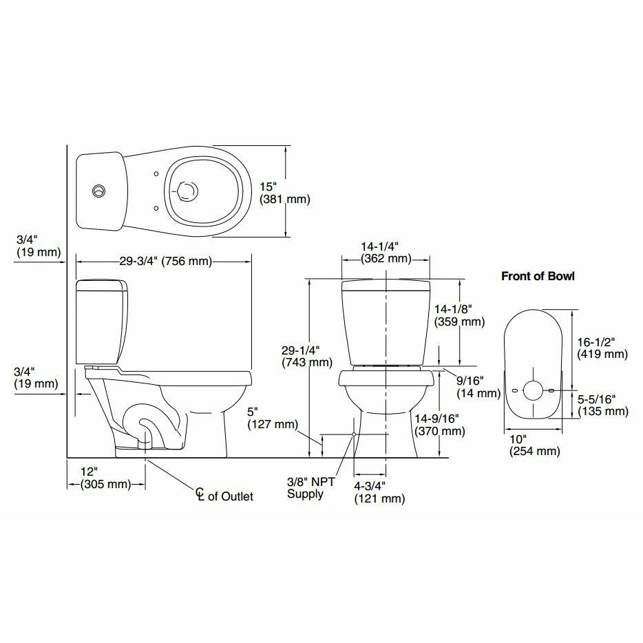 Sterling By Kohler Karsten Front Dual Flush Round 2 Piece Toilet Review